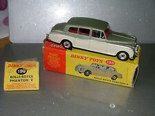 DINKY TOYS ROLLS ROYCE PHANTOM V 198 1962-69 MECCANO VINTAGE RARE n/mint boxed