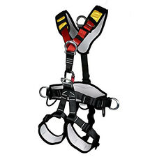 Safety Rock Tree Climbing Body Protection Rappelling Harness Seat Belt BLACK RED