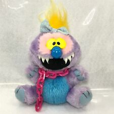 KUDDLEE UGLEE MY PET MONSTER Purple Girl W/ CHAIN SMALL PLUSH STUFFED ANIMAL 5""