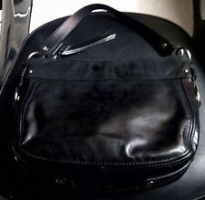 Authentic Coach Zoe Patent Leather Handbag Hobo Shoulder Bag Purse F15478 Black