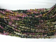 India 100% Natural Multiple Color Watermelon Tourmaline  Chip Bead  Strand 35""