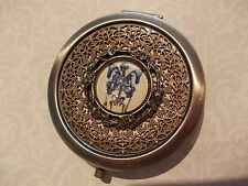 Skeleton with Butterfly wings  - Aged Brass Mirror Compact