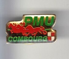 RARE PINS PIN'S .. SPORT CHEVAL HORSE HIPPISME TROT PMU TURF COMBOURG 35 ~BN