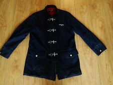 RALPH LAUREN  MENS RARE DENIM MILITARY NAUTICAL METAL CLIP  JEAN JACKET COAT M
