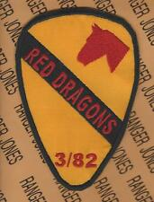 1st Cavalry Division 3rd Bn 82nd RED DRAGONS Field Artillery FA 5 inch patch