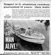 1960 Print Ad Starcraft 14 ft Aluminum Runabout Boats Goshen,IN