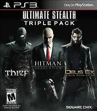 Ultimate Stealth Triple Pack, Thief, Hitman Absolution, Deus Ex Human Rev. PS3