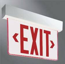Exit Sign, Commercial, Edge Lit, LED, Self-Powered, Dual Voltage Input 120/277
