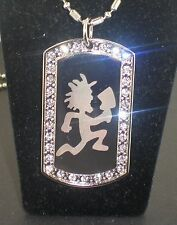 ICP Hatchetman Insane Clown CZ DOG TAG PENDANTS NECKLACE