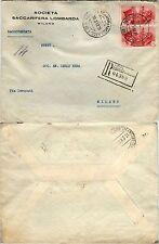 REGNO-Fratellanza d'armi coppia 75c(456)-Raccomandata Milano B x città 10.3.1942