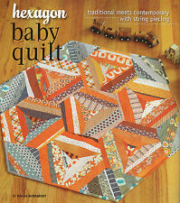 190 - 111 ** Hexagon Baby Quilt ** Traditional Meets Contempoary !