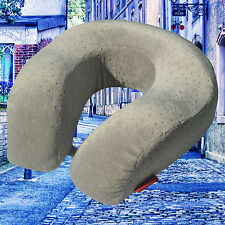 Grey Memory Foam U Shaped Travel Pillow Head Neck Support Car Seat Cushion SALE