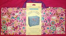 Bolsa de almacenamiento Jumbo-Rosa Flores de música de amor y paz Palomas-Reciclado Reutilizable