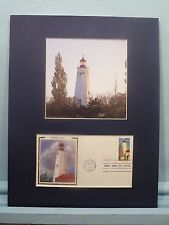 Sandy Hook Lighthouse of Highlands, New Jersey & First Day Cover of its stamp