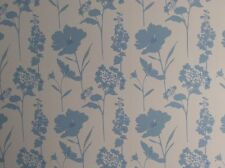 Next cornflower blue country floral wallpaper cottage shabby chich