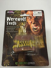 Werewolf Teeth Horror Halloween Make Up Fancy Dress Accessory