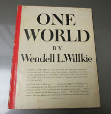 1943 ONE WORLD by Wendell L Willkie Magazine Book VG 86 pgs 5th Printing