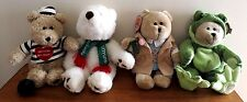 Lot of 4 STARBUCK'S Barista Bears  1998, 2003, 2005, and 2006