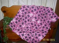 Pink Black Skull Punk Goth Baby Toddler  Rag Quilt 31 x 38 Super Soft Flannel
