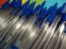 1000 x BLUE BALLPOINT PENS - BULK CLEARANCE JOB LOT - NEXT DAY UPS DELIVERY