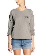 NEW VANS AUTHENTIC TRAP HEATHER CREW WOMEN'S GREY SWEATER HOODY SIZE XS