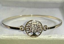 Tree Bangle Genuine 925 Sterling Silver 7 Inches 4.6 grams - Lovely w Gift Box