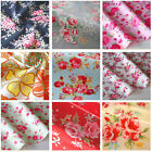 Floral Fabric 100% Cotton Rose Material Vintage Metre Chic Craft Quilting 44