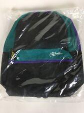 McDonalds Vintage Backpack  Bag Rare Sealed New McDonald Back Pack Blue Black