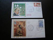 FRANCE - 2 enveloppes 1er jour 1971 (general de gaulle/grignard (cy73) french