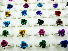 Wholesale Lot 5 Pcs New Multi-color Little Flower Rings J129