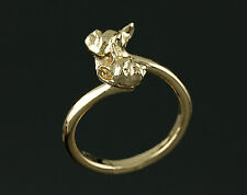Bague Chien BOULEDOGUE FRANCAIS en 3D  -  Ring with FRENCH BULLDOG