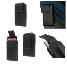 Magnetic Leather Holster Pouch Case Belt Clip rotary 360º para   APPLE IPHONE 4