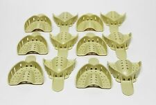 Dental Plastic Disposable Impression Trays Perforated Autoclavable UM #3 12 Pcs
