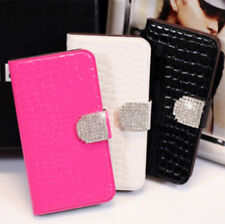 Crocodile Leather Flip Wallet Case with Bling Buckle for  Samsung G S3 i9300