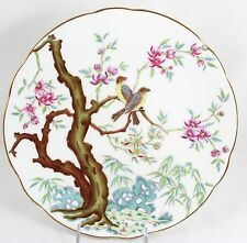 FINE OLD ANTIQUE MINTON CHINA CABINET PLATE HAND PAINTED BIRDS PINK FLOWERS GOLD