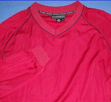 XL GREAT FOOTJOY RED RAIN WEATHER RESISTANT PULLOVER SHIRT JACKET MENS