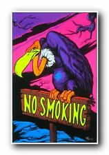 NO SMOKING - VULTURE - BLACKLIGHT POSTER - 24X36 FLOCKED 1902