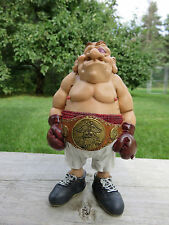 Boxer Comical Figurine Resin W.Stratford Grumpy Jon 6.5 in.New Holds Fights Ring