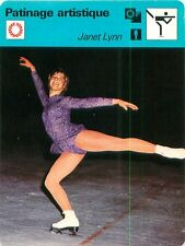 FICHE CARD : Janet Lynn Nowicki USA Figure skating Patinage artistique 70s