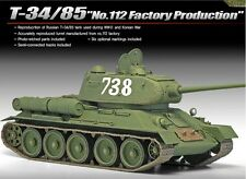 Academy 1/35 Plastic Model Kit T-34/85 Tank No.122 Factory Production 132NIB
