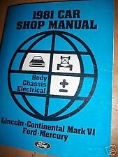 1981 FORD LTD CROWN VICTORIA MERCURY GRAND MARQUIS BODY CHASSIS SHOP MANUAL
