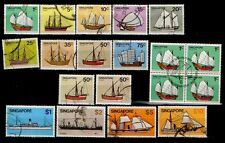 Singapore stamps - 1980 Ships complete low & high value sets fine used