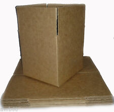 10 single wall packaging or postage boxes 5 x 5 inch new cube
