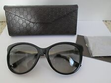 New Authentic Gucci GG 3784/S Black Gold Logo Cat Eye Sunglasses $350 w/ Case