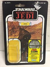 STAR WARS JAWA BOBA FETT COIN OFFER CARDBACK W ATTCH BUBBLE KENNER VINTAGE CHINA