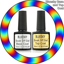 Bluesky™ Top and Base Coats 10ml UV-LED Soak Off Gel Nail Polish
