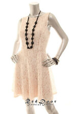 N/W-Defect SPEECHLESS Women Floral Glitter Boat Neck Lace Dress Indipink Size 11