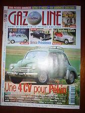REVUE GAZOLINE N° 136 4CV FIAT 600 SIMCA PRESIDENCE TOPOLINO ESTATE