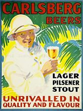 ADVERT DRINK ALCOHOL BEER LAGER DANISH COLONIAL UNIFORM TROPIC PRINT LV672