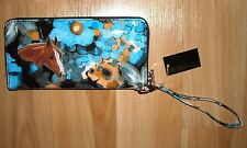 HORSE Wallet~NWT~Great Gift Item~Wristlet by SASHA~Blues & Black~3 Sections